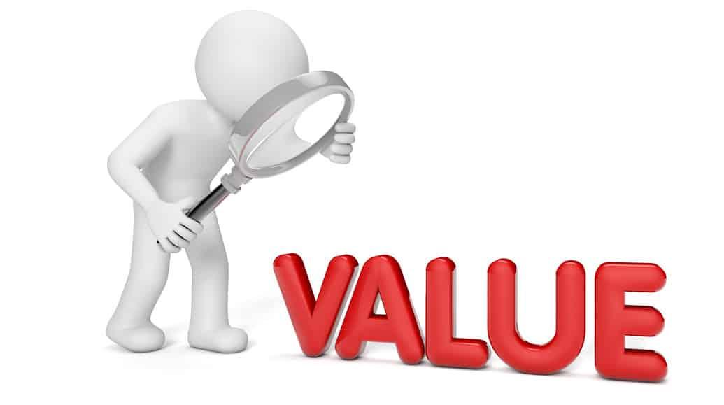 Verschil tussen waarde en prijs van cryptovaluta, cryptomunten of cryptocurrency