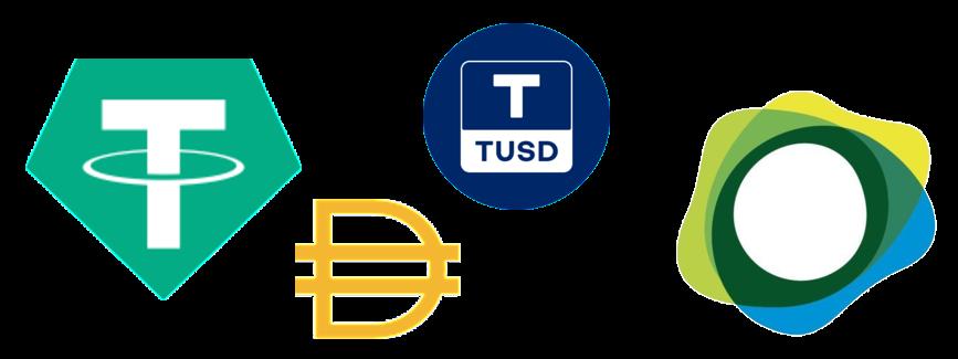 Tether - DAI - TUSD - Paxos
